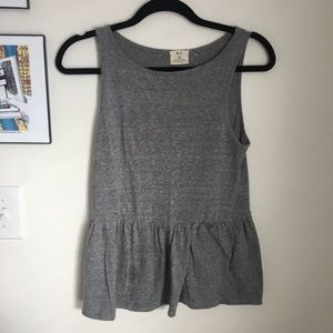 Urban Outfitters Pins and Needles Grey Peplum Top
